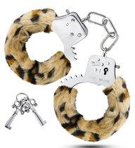 Леопардовые игровые наручники Cuffs, цвет леопард - Blush Novelties
