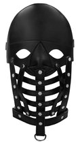 Черная маска-шлем Leather Male Mask, цвет черный - Shots Media
