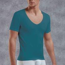 Мужская футболка с V-образным вырезом, цвет зеленый, S - Doreanse