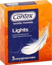 Особо тонкие презервативы Contex Lights - 3 шт. - CONTEX