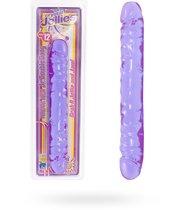 Двухсторонний фиалковый фаллос Crystal Jellies 12 Jr. Double Dong - 30,5 см, цвет фиолетовый/прозрачный - Doc Johnson