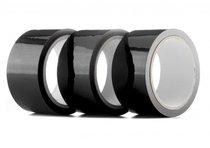 Набор из 3 мотков чёрных лент Bondage Tape длиной 20 метров каждый, цвет черный - HOT