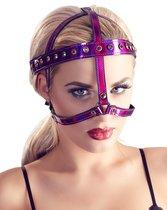 Bad Kitty BDSM Маска на лицо со стразами фуксия, цвет фуксия - ORION