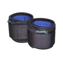Неопреновые черно-синие наручники, цвет синий/черный - Sitabella (СК-Визит)