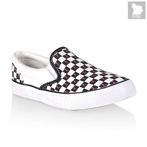 Кеды-мокасины Hustler Classic Slip-On, цвет белый - Hustler Shoes
