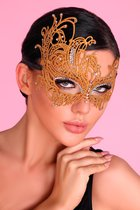 Золотистая ажурная маска Mask Golden, цвет золотой, размер OS - Livia Corsetti