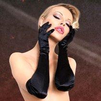 Перчатки Soft Line длинные, цвет черный, S-M - SoftLine Collection (SLC)