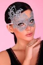 Серебристая ажурная маска Mask Silver, цвет серебряный, размер OS - Livia Corsetti