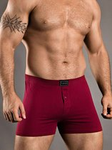 Хлопковые трусы-боксеры свободного покроя, цвет бордовый, L - Doreanse
