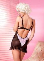 Бэби-долл Follaro с трусиками, цвет розовый/черный, размер S - Anais