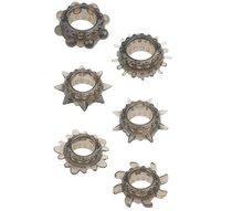 Набор из 6 дымчатых эрекционных колец MENZSTUFF 6PC STRECHEABLE RING SET - Dream toys
