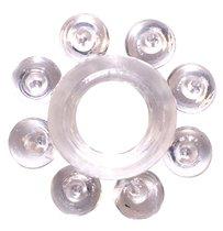 Прозрачное эрекционное кольцо Rings Bubbles, цвет прозрачный - Lola Toys