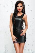 Облегающее платье Lea с эффектом мокрого блеска, цвет черный, размер L-XL - Me Seduce