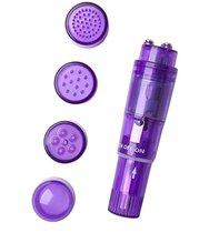 Фиолетовая виброракета Erotist с 4 насадками, цвет фиолетовый - Erotist