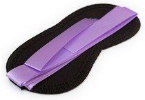 Чёрная маска на глаза Purple Black с фиолетовыми завязками, цвет черный - Пикантные штучки
