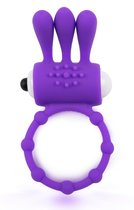 Фиолетовое эрекционное кольцо c вибропулей и усиками, цвет фиолетовый - Brazzers