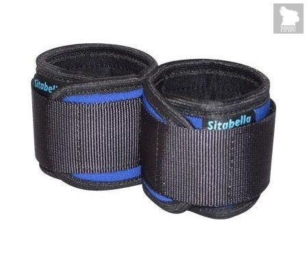 Сине-черные неопреновые наручники, цвет синий - Sitabella (СК-Визит)