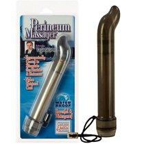 Анальный стимулятор Perineum Massager - 17 см, цвет серый - California Exotic Novelties
