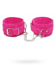 Наручники замшевые Pink - Wrist Cuffs, цвет розовый - Pipedream