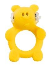 Жёлтое виброкольцо на пенис Brutal Bear - HOT