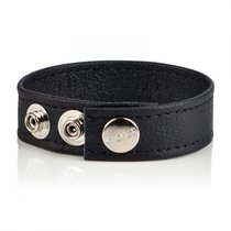 Утяжка для члена Colt - Leather C/B Strap Adjustable 3-Snap, цвет черный - California Exotic Novelties
