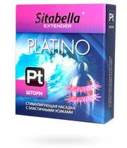 Стимулирующая насадка со спиралью из усиков Platino Шторм - Sitabella