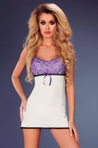 Сорочка Amaris с ажуром на лифе, цвет белый, размер L-XL - Livia Corsetti