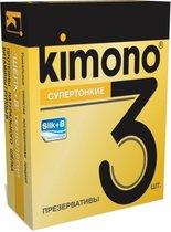 Супертонкие презервативы KIMONO - 3 шт. - Kimono