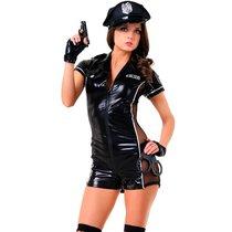Костюм эротического полицейского, цвет черный, S-M - Le Frivole