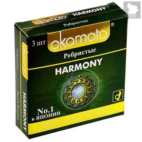 Презервативы Okamoto - Harmony №3, ребристые (блок - 24 упаковки) - Okamoto