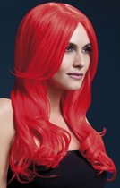 Красный парик с длинной челкой Khloe, цвет красный, S-L - Fever