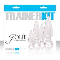 Набор анальных пробок Jolie - 4pc Trainer Kit - Clear, цвет прозрачный - NS Novelties