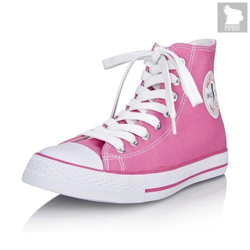Женские кеды Hustler Classic High Top Women - Pink, цвет розовый, 38 - Hustler Shoes