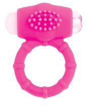 Розовое эрекционное виброкольцо A-toys, цвет розовый - Toyfa