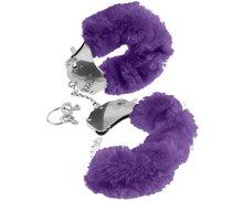 Наручники Original Furry Cuffs металлические с мехом, цвет фиолетовый - Pipedream