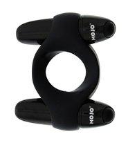 Чёрное эрекционное кольцо с 2 виброэлементами MOJO CATAMARAN, цвет черный - Seven Creations