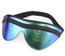 Сине-черная маска на глаза с фиксирующей резинкой, цвет синий/черный - Sitabella