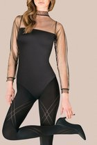 Фантазийные колготки Megan с ромбовидным узором, цвет черный, 4 - Gabriella