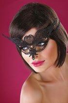 Ажурная маска с сердечком по центру, цвет черный, размер OS - Livia Corsetti