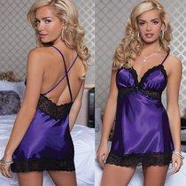 Сорочка Enchanting Chemise, с трусиками, цвет фиолетовый, M - Seven`til Midnight