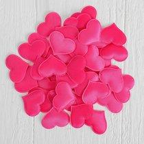 Набор ярко-розовых декоративных сердец - 50 шт., цвет розовый - Сима-Ленд