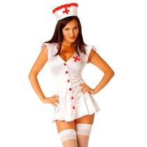 Костюм сексапильной медсестры, цвет белый, S-M - Le Frivole