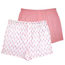 Пара трусов-шортов Hustler Riggan, цвет белый/розовый - Hustler Lingerie