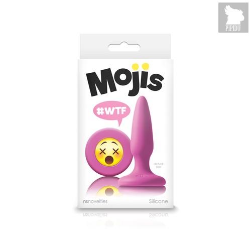 Анальная пробка Эмоджи маленькая розовая Moji's - WTF - Mini Silicone Plug, цвет розовый - NS Novelties