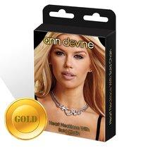 Колье с подвеской Heart Necklace With Bold Chain, цвет золотой - Ann Devine
