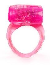 Розовое эрекционное кольцо с вибропулей, цвет розовый - Brazzers