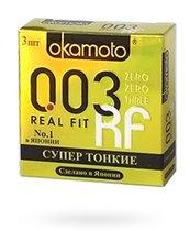 Презервативы Okamoto Real Fit супер тонкие, 3 шт. - Okamoto
