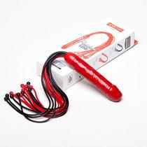 Чёрно-красная плеть мини-ракета с ручкой-фаллосом - 50 см., цвет красный/черный - Sitabella (СК-Визит)