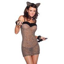 Сексуальное платье тигрицы, цвет леопард, размер S-L - Coquette Internatonal