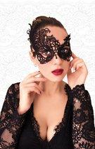 Ажурная асимметричная маска чёрного цвета, цвет черный - FlirtON